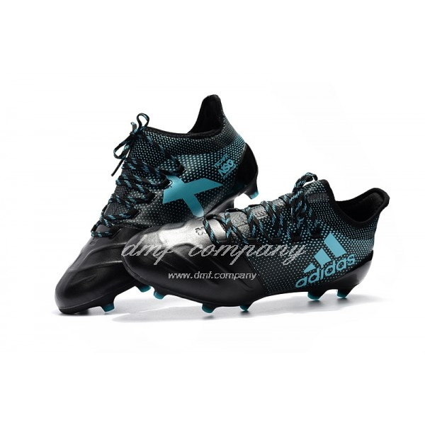 Adidas X 17.1 leather FG Men's Black And Blue
