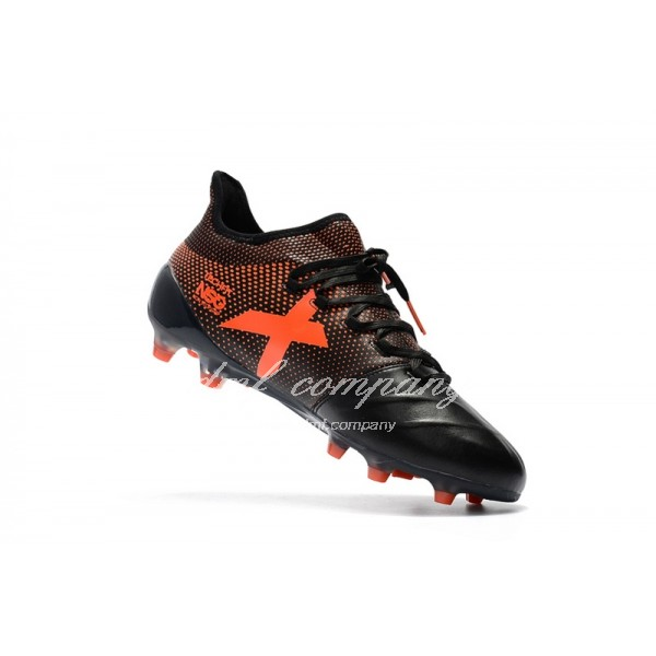 Adidas X 17.1 leather FG Men's Black And Orange