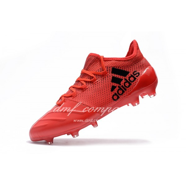 Adidas X 17.1 leather FG Men's Red And Black