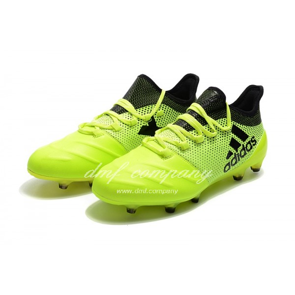 Adidas X 17.1 leather FG Men's Green And Black