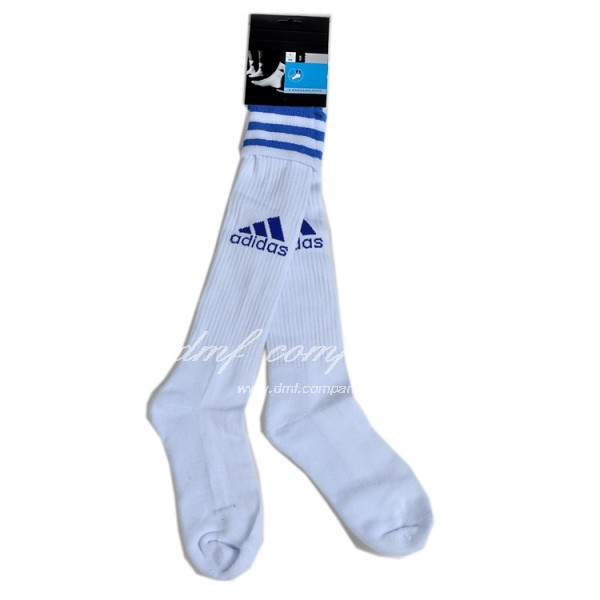 adidas Football Kit Sock Team Socks White with blue logo