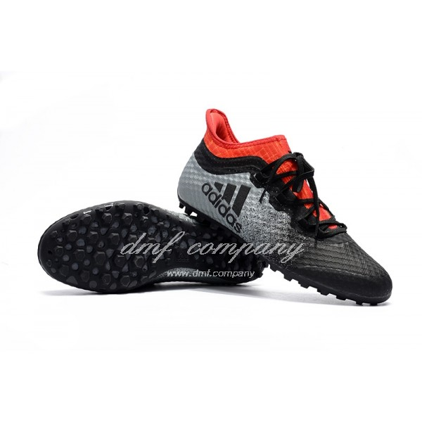 Adidas Men's X Tango 16.1 TF39-45 Black Silver And Red