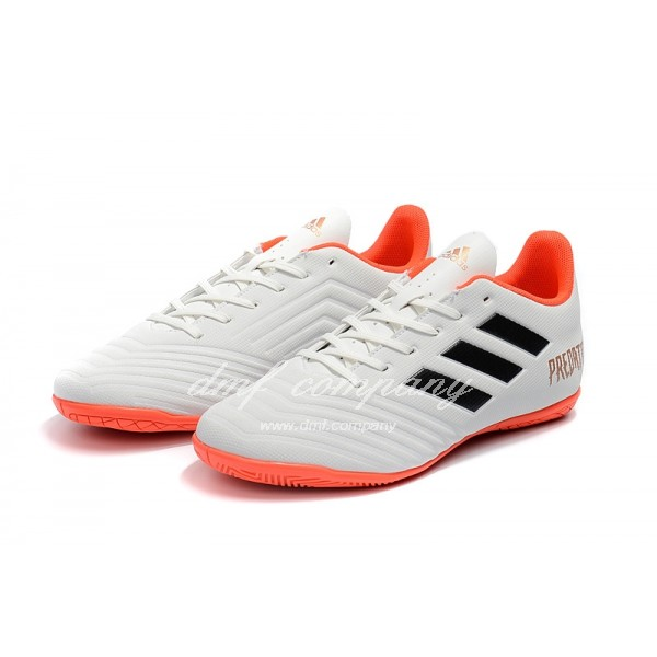Adidas Predator Tango 18.4 IN Men's Whie Black Upper And Orange Sole