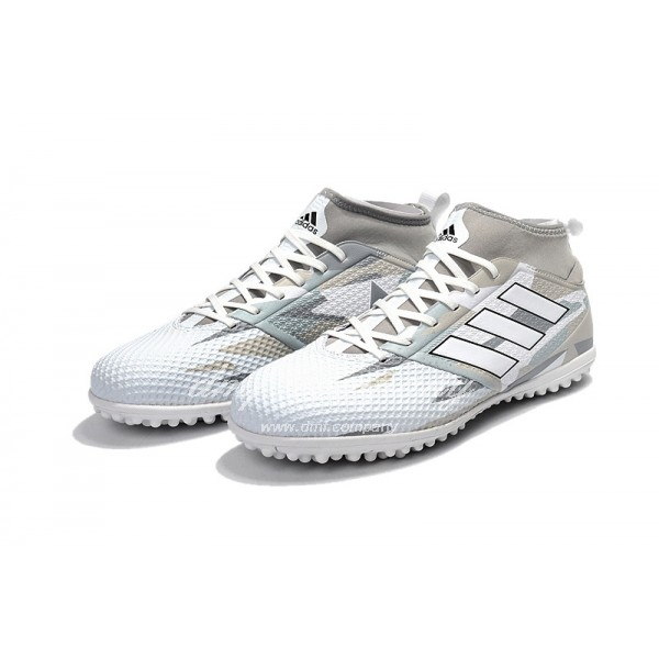 Adidas Men's Ace 17.3 Primemesh TF White And Grey