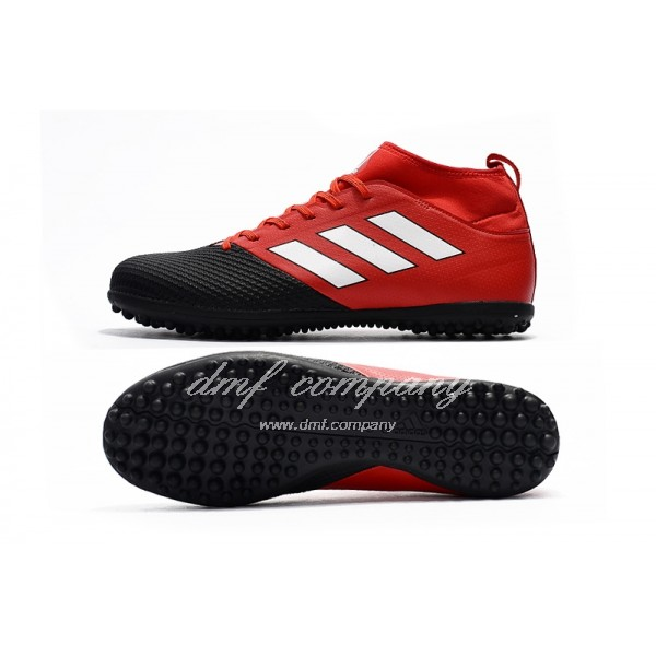 Adidas Men's Ace 17.3 Primemesh TF Black Red And White