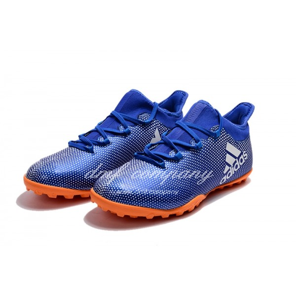 Adidas Men's X Tango 17.3 TF Blue Upper And Red Sole