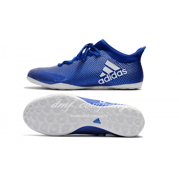 Adidas Men's X Tango 17.3 IC Blue Upper And White Sole