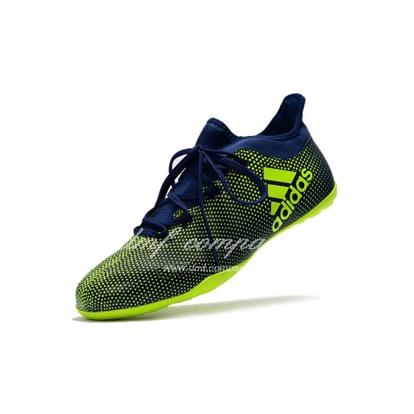 Adidas Men's X Tango 17.3 IC Green And Blue