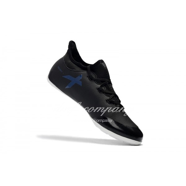 Adidas Men's X Tango 17.3 IC Black Upper And White Sole