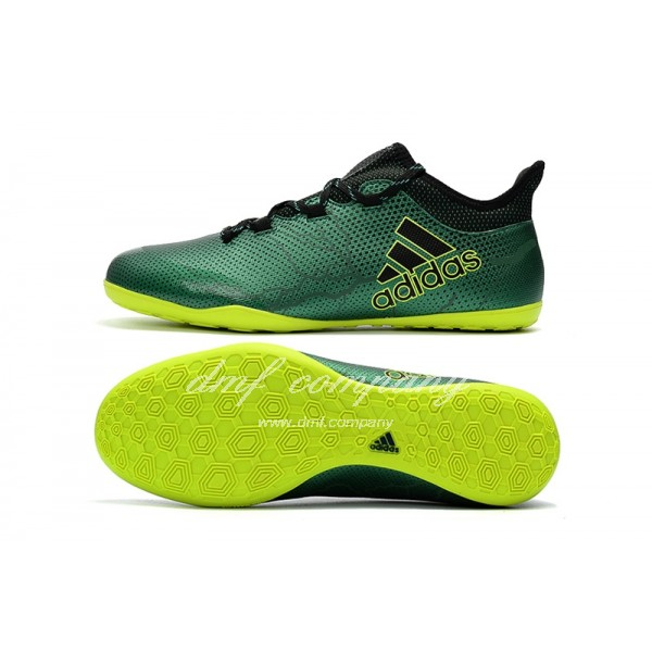 Adidas Men's X Tango 17.3 IC Green Upper And Yellow Sole