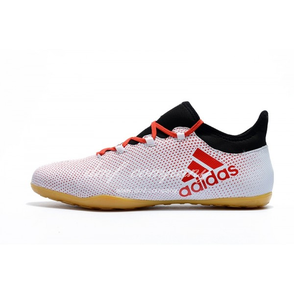 Adidas Men's X Tango 17.3 IC White Red And Black
