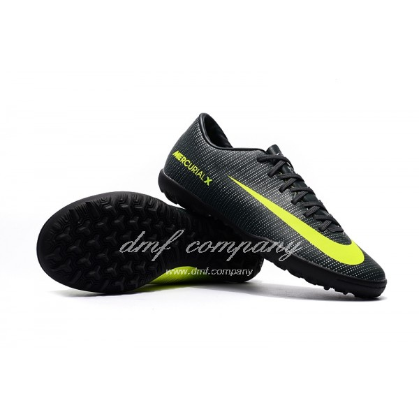 NIke Mercurical Victory VI  Men/Women Black/Green TF