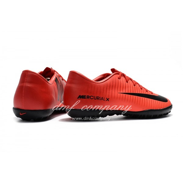 NIke Mercurical Victory VI  Men/Women Red/Black TF