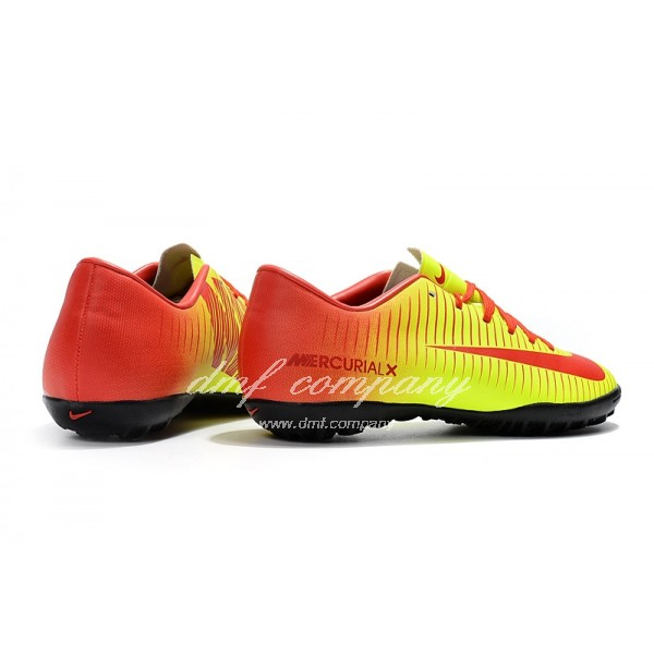 NIke Mercurical Victory VI  Men/Women Yellow/Orange TF