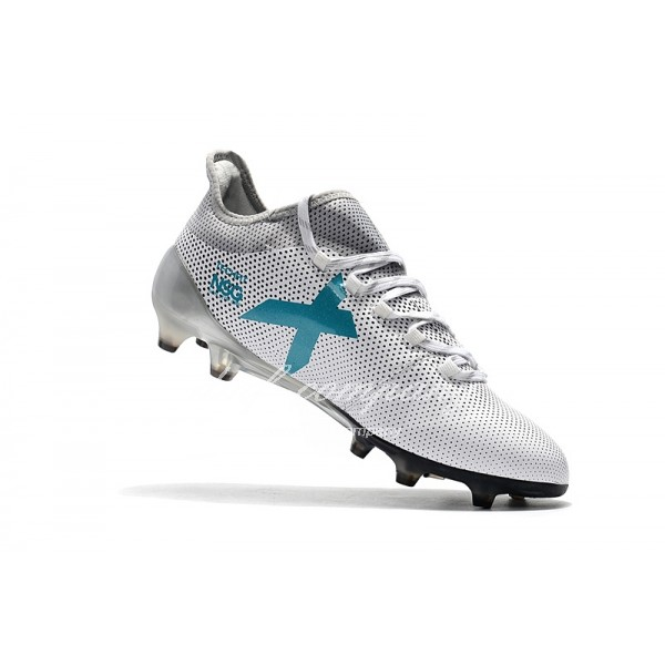 Adidas Men's X 17.1 FG White And  Lake Blue