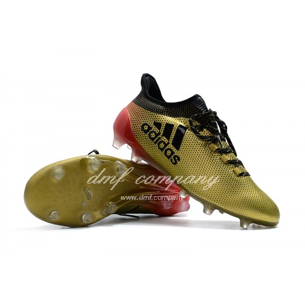 Adidas Men's X 17.1 FG Golden Black And Red