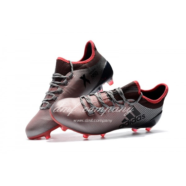 Adidas Men's X 17.1 FG Silver Black And Red