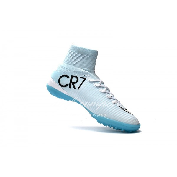Mercurial Superfly CR7 Vitorias TF Men/Women White/Blue