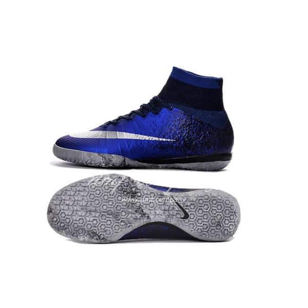 Nike Mercurial Superfly CR7 IC Men Dark Blue/Silver