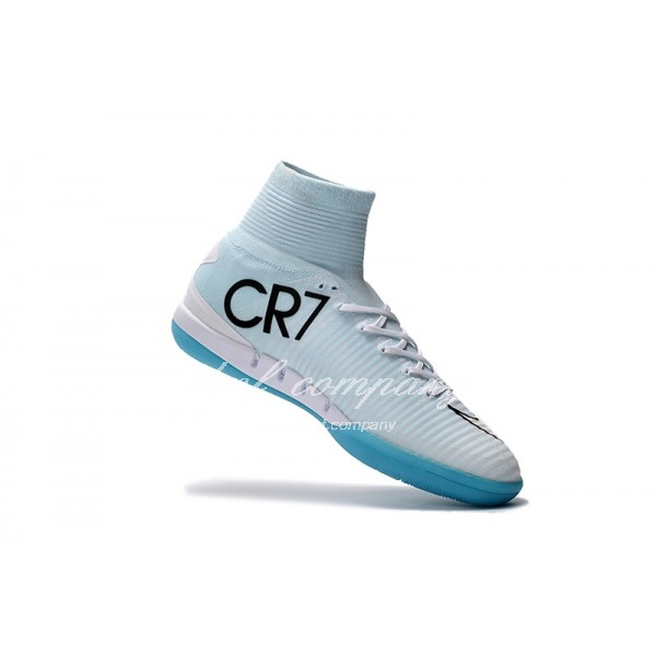 Mercurial Superfly CR7 Vitorias IC Men/Women White/Blue