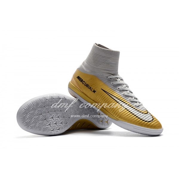 NIke Mercurial Superfly V IC Men Gold/Silver