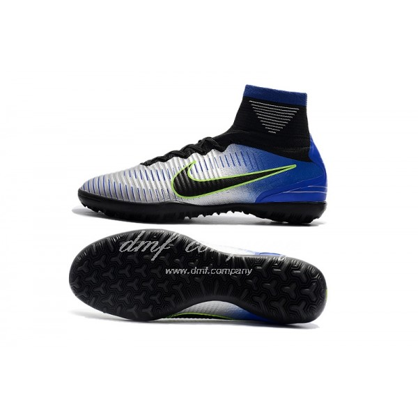 Nike Mercurial Superfly V SX Neymar TF Men/Women Silver/Blue