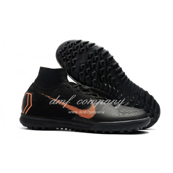 NIke SuperflyX 6 Elite TF Men/Women Black/Orange