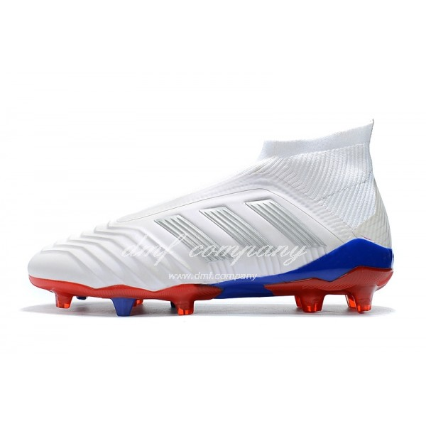 adidas Predator 18.1 FG Men White/Blue/Red