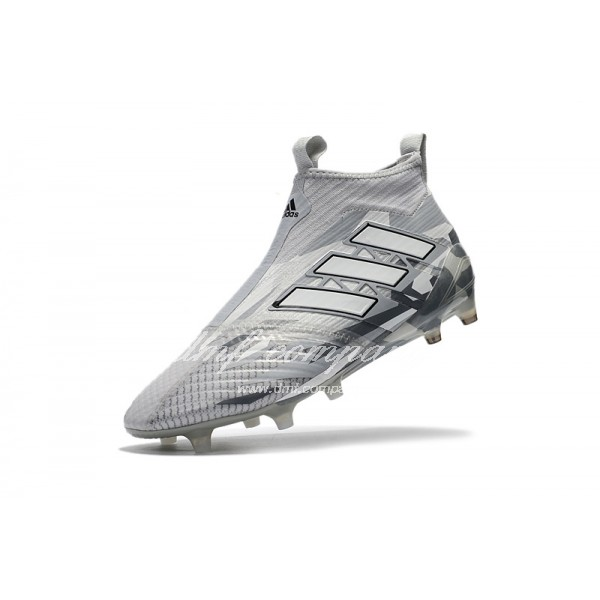 Adidas ACE 17+ PureControl FG Men Silver/White