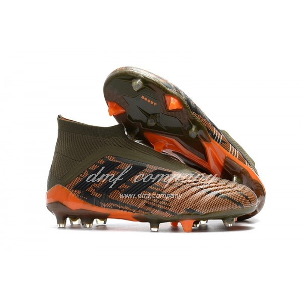 adidas Predator 18+ FG Men Army Green/Orange