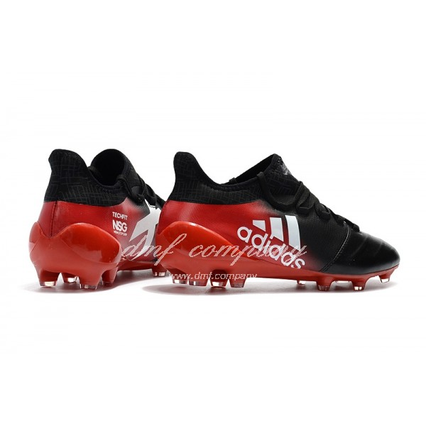 Adidas X 17.1 leather FG Women/Men Black/Red