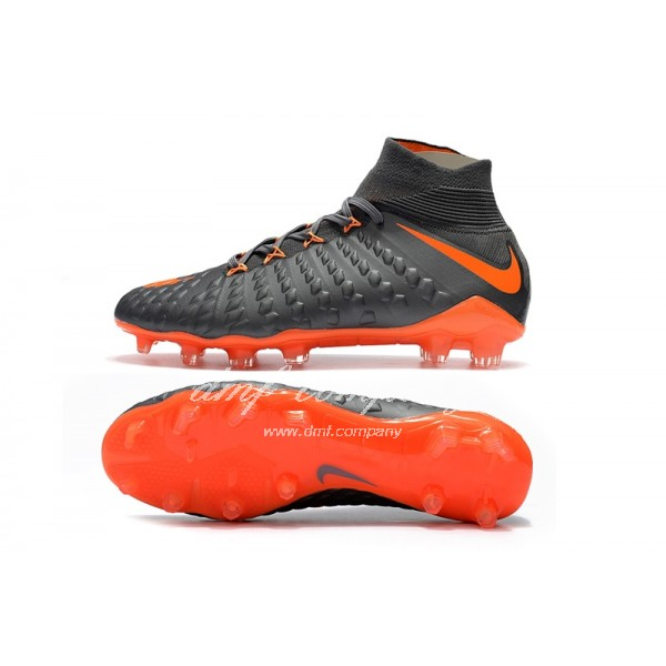 NIke Hypervenom Phantom III DF Men Grey/Orange FG