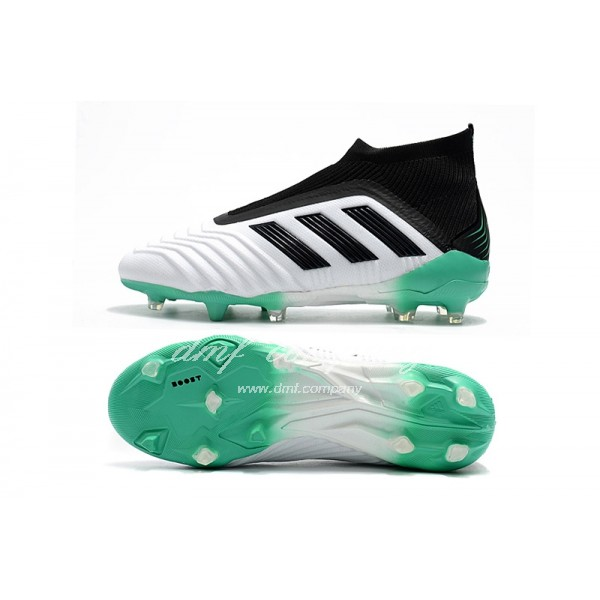 adidas Predator 18+ FG  Men White/Black/Green
