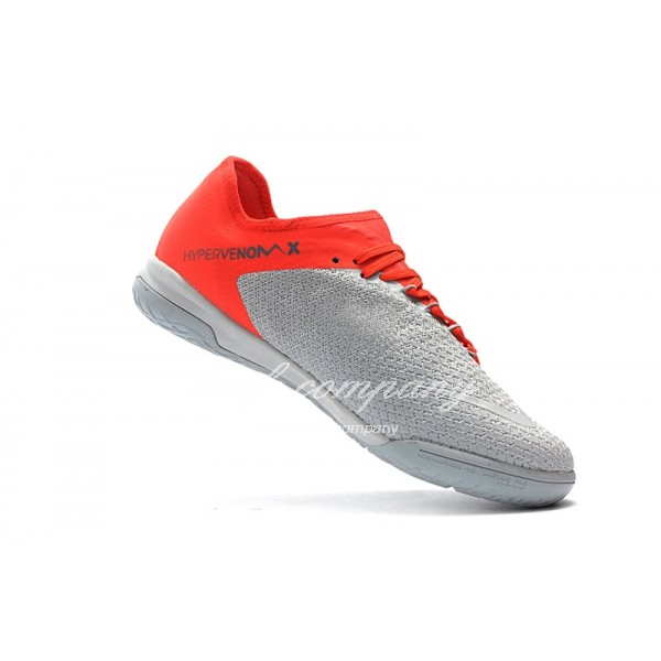 NIke Hypervenom PhantomX III PRO Men Grey/Orange IC