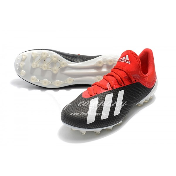 Adidas Men's X 18.1 AG Red Black And White