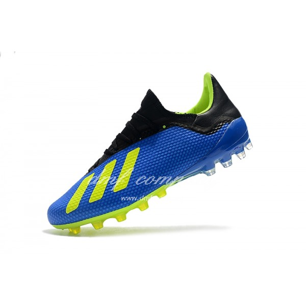 Adidas Men's X 18.1 AG Blue Black And Green