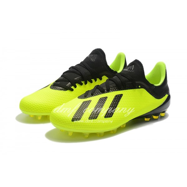 Adidas Men's X 18.1 AG Fluorescent Green And Black