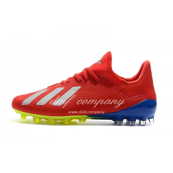 Adidas Men's X 18.1 AG Red Blue And White