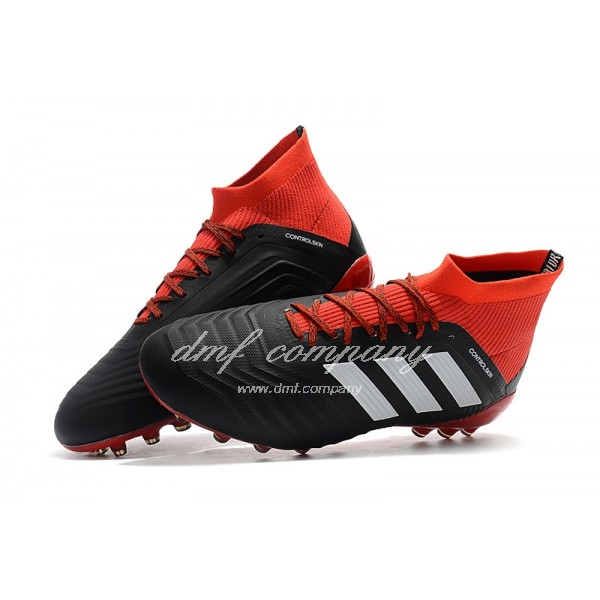 Adidas Men's Predator 18.1 AG Black And Red