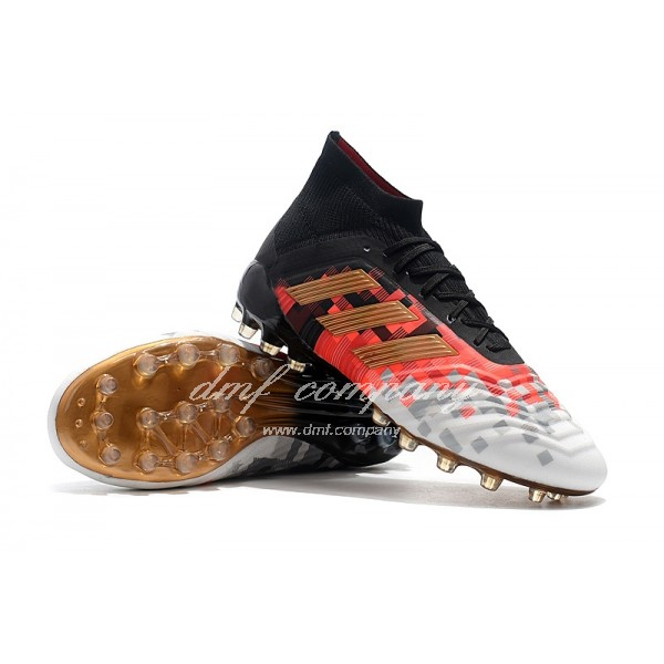 Adidas Men's Predator 18.1 AG Black Orange And White