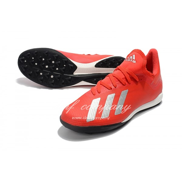 Adidas X Tango 18.3 TF Men's Red Silver Upper And Black Sole
