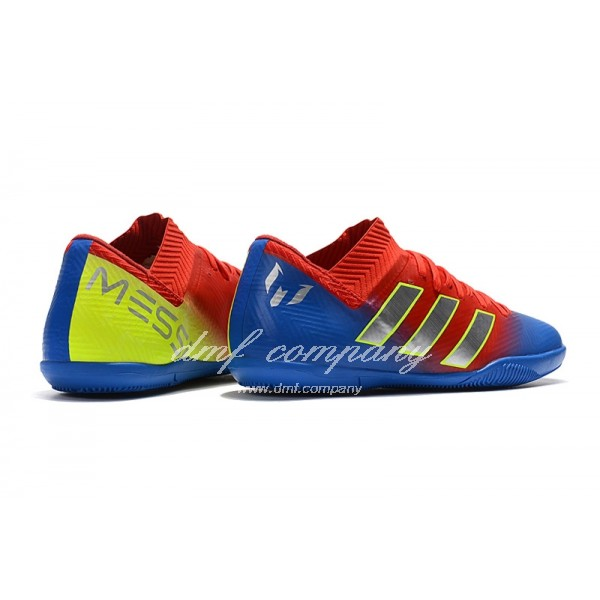 Adidas Nemeziz Messi Tango 18.3 IC Men's Red Blue Golden And Yellow
