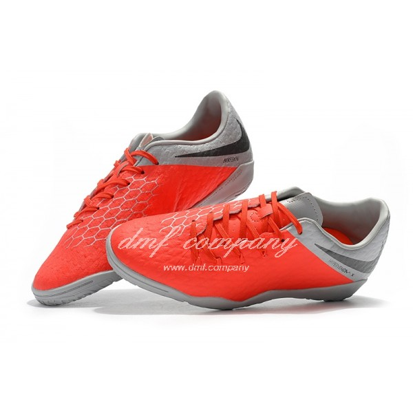 Nike Hypervenom Phantom Premium Grey/Orange IC